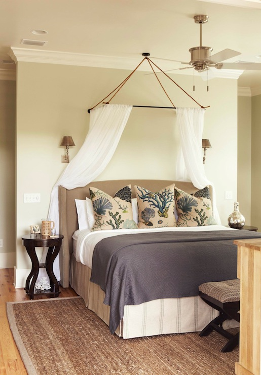 sheer bed canopy cottage bedroom interior philosophy