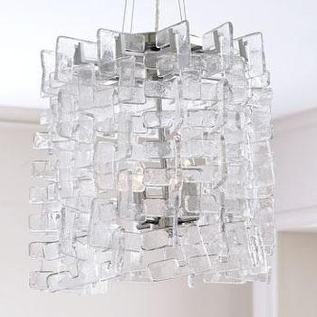 Lighting - 'Havilland' Pendant - Neiman Marcus - Murano style glass pendant, clear Murano style glass pendant, modern Murano style glass pendant,