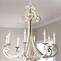 Lighting - 'Constellation' Chandelier - Neiman Marcus - scrolled arm chandelier, silver leaf scrolled arm chandelier, contemporary silver leaf chandelier,