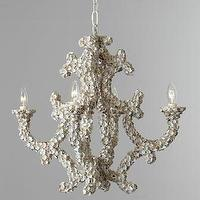 Lighting - Arteriors Four-Light 'Leeza' Shell Chandelier - Neiman Marcus - shell chandelier, seashell chandelier, star limpet chandelier, encrusted shell chandelier,