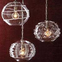 Lighting - Globe Pendant Lights - Neiman Marcus - hand-blown glass pendants, glass pendants, mouth-blown glass pendants,