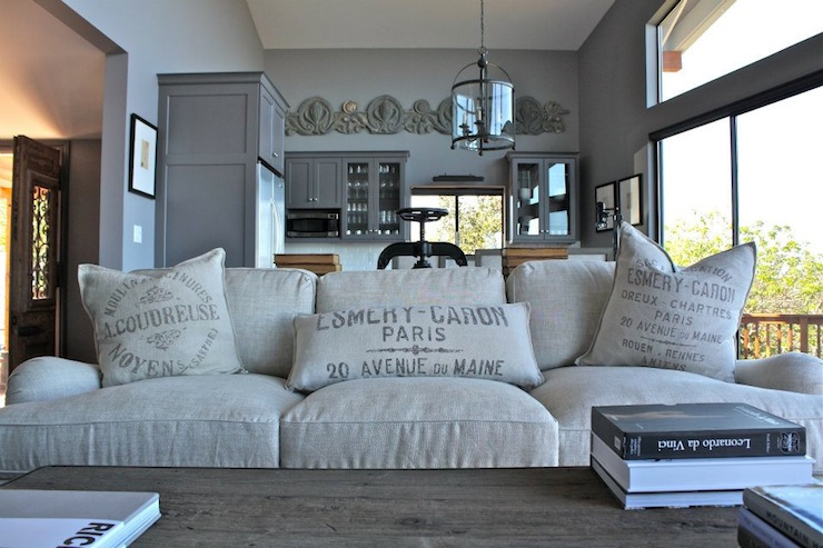 French Grain Sack Pillows French Living Room William