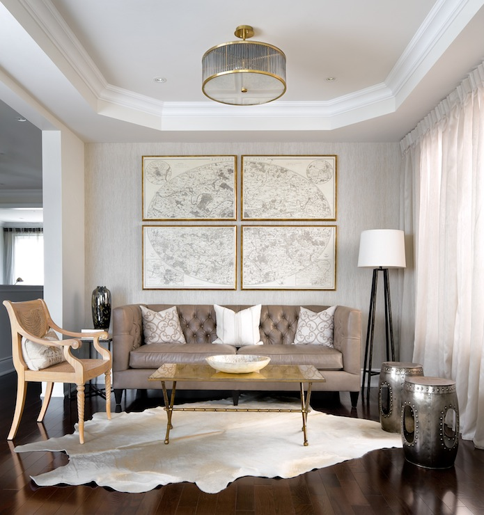 Octagonal Ceiling Contemporary Living Room Toronto Interior Design Group