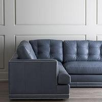 "Rugs - ""Estacado"" Sectional Sofa - Neiman Marcus - button tufted sectional, gray blue sectional, gray blue button tufted sectional, blue button tufted sectional,"