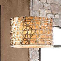 Lighting - 'Alita' Basketweave Pendant - Neiman Marcus - basketweave pendant, silver leafed basketweave pendant,