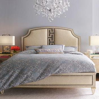 Beds/Headboards - 'Carlton' Bedroom Furniture - Neiman Marcus - transitional bedroom furniture, upholstered bed with nailhead trim, contemporary bedroom furniture, arched upholstered bed with nailhead trim,