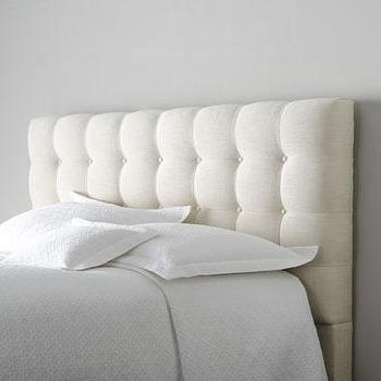 Beds/Headboards - 'Langford' Tufted Headboard - Neiman Marcus - ivory button tufted headboard, button tufted headboard,