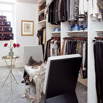 Dressing Room, Contemporary, closet, Architectural Digest
