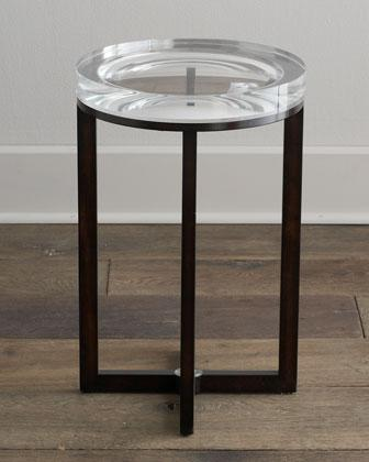 Tables - 'Pierce' Side Table - Neiman Marcus - acrylic topped side table, clear topped side table,