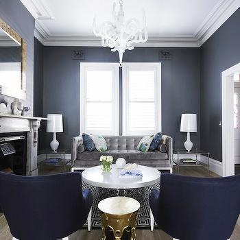 Blue and Gray Living Room, Contemporary, living room, Greg Natale