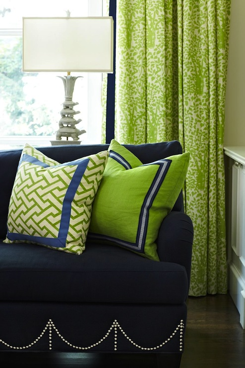 Blue and green living room contemporary living room for Blue and green living room decorating ideas