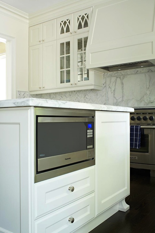 Kitchen Island Microwave Nook Transitional