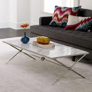 Tables - Jonathan Adler 'Chader' Coffee Table - Neiman Marcus - marble topped coffee table, marble coffee table, modern marble cofee table,