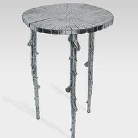 Tables - Enchanted Forest Table - Neiman Marcus - silver branch table, silver branch side table, branch side table, branch table,