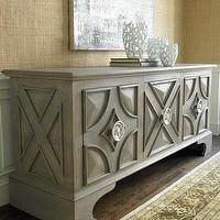 Storage Furniture - 'Dorvall' Entertainment Cabinet - Neiman Marcus - gray entertainment cabinet, raised panel entertainment cabinet, contemporary gray media cabinet, modern gray media cabinet,
