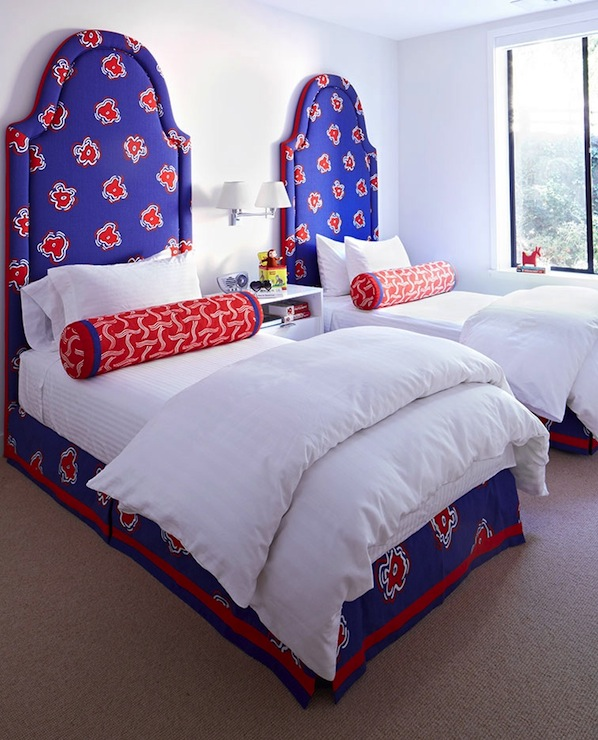 mesmerizing modern white red blue bedroom ideas boys | Blue and Red Boys' Bedroom - Contemporary - boy's room ...