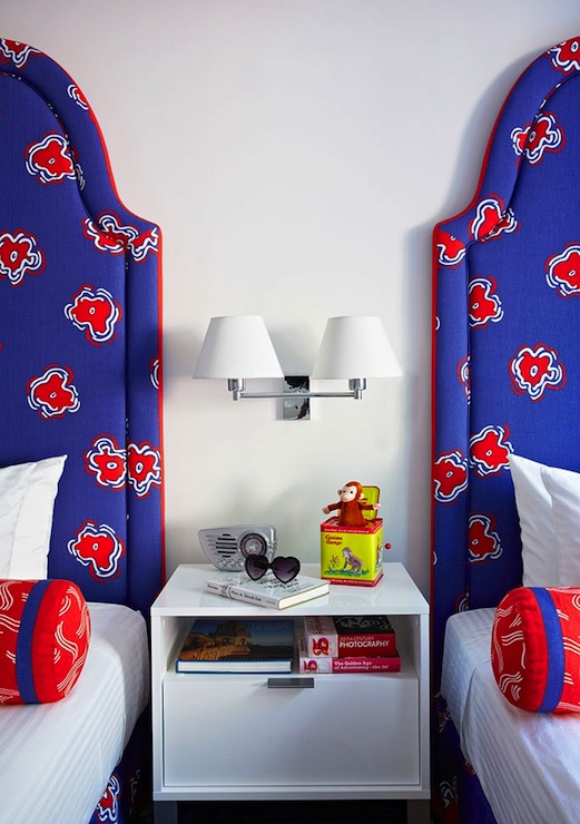 mesmerizing modern white red blue bedroom ideas boys | Blue and Red Headboards - Contemporary - boy's room - Anne ...