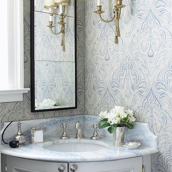 Corner Bathroom Vanity, Traditional, bathroom, Anne Hepfer Designs