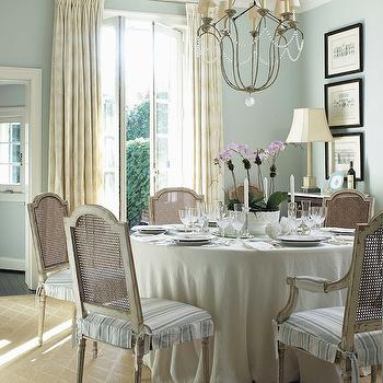 Duck Egg Blue Paint Color, French, dining room, Anne Hepfer Designs