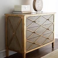 Storage Furniture - 'Melody' Chest - Neiman Marcus - sage and gold chest, three drawer chest, sage and gold three door chest,