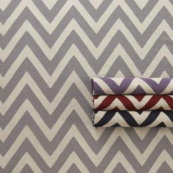 Rugs - 'Delia' Rug - Neiman Marcus - chevron rug, striped chevron rug, gray chevron rug, navy blue chevron rug, red chevron rug, purple chevron rug,