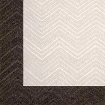 Rugs - 'Dimension Chevron' Rug - Neiman Marcus - chevron rug, ivory chevron rug, brown chervon rug, cream chevron rug,