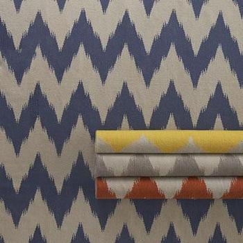 Rugs - 'Wild Chev' Rug - Neiman Marcus - chevron rug, striped chevron rug, blue chevron rug, yellow chevron rug, gray chevron rug, orange chevron rug,