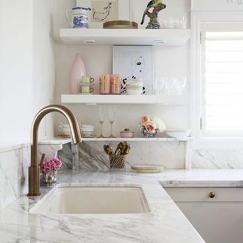 Marble Countertops, Eclectic, kitchen, Meredith Heron Design