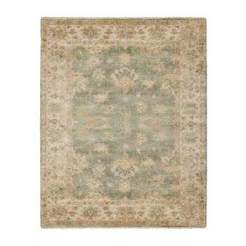 Rugs - 'Oceanna' Rug - Neiman Marcus - Oushak rug, blue Oushak rug, blue and cream Oushak rug, blue and gold Oushak rug,
