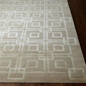 Rugs - 'Ivory Square' Rug - Neiman Marcus - beige and ivory rug, interlocking sqaures rug, tan and ivory rug, contemporary tan rug,
