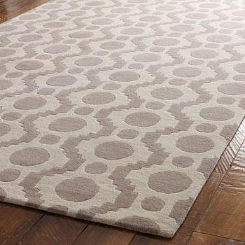 Rugs - 'Fleeting Circles' Rug - Neiman Marcus - gray and cream rug, grey and ivory rug, gray and cream contemporary rug, contemporary gray rug,