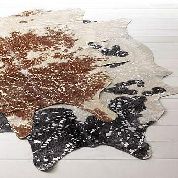 Rugs - 'Speckles' Cowhide Rug - Neiman Marcus - cowhide rug, cowhide rug with gold, cowhide rug speckled in gold,