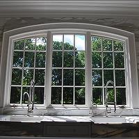 New England Stone - kitchens - kitchen windows, thick crown moldings, kitchen crown moldings, instant hot water faucets, twin kitchen sinks, double kitchen sinks, calcutta gold marble sinks, marble sinks, twin marble sinks, twin faucets, twin kitchen faucets, contemporary wall sconces, white crown moldings, calcutta gold, calcutta gold marble, calcutta gold marble counters, calcutta gold marble countertops, calcutta gold marble backsplash, calcutta gold marble kitchen backsplash,