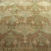 Rugs - &#039;Tavis&#039; Rug - Neiman Marcus - brown and bleu rug, brown and blue ikat rug, brown abstract rug,