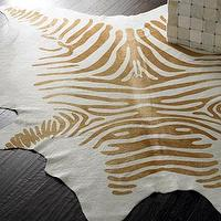 Rugs - Cream &#039;Zebra&#039; Hide Rug - Neiman Marcus - cream zebra print rug, zebra hide rug, cream zebra hide rug,