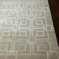 Rugs - &#039;Ivory Square&#039; Rug - Neiman Marcus - beige and ivory rug, interlocking sqaures rug, tan and ivory rug, contemporary tan rug,