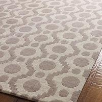 Rugs - &#039;Fleeting Circles&#039; Rug - Neiman Marcus - gray and cream rug, grey and ivory rug, gray and cream contemporary rug, contemporary gray rug,