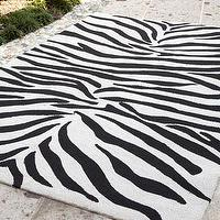 Rugs - &#039;Zoey&#039; Zebra-Print Rug - Neiman Marcus - zebra print rug, black and white zebra print rug,
