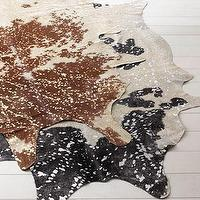 Rugs - &#039;Speckles&#039; Cowhide Rug - Neiman Marcus - cowhide rug, cowhide rug with gold, cowhide rug speckled in gold,