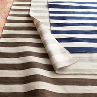 Rugs - &#039;Seaside Stripe&#039; Rug - Neiman Marcus - striped rug, navy blue and white striped rug, gray and white striped rug, brown and white striped rug,