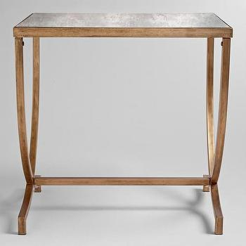 Tables - Renata Accent Table | World Market - gold accent table, gold and antiqued mirror accent table, gold side table,