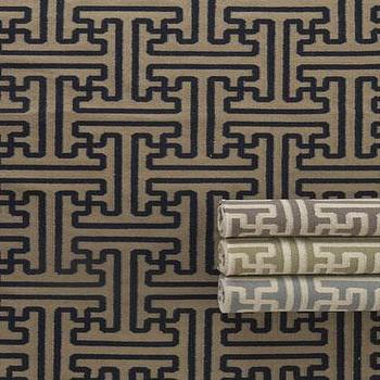 Rugs - 'Gabriella' Flatweave Rug - Neiman Marcus - geometric rug, blue and ivory geometric rug, green and ivory geometric rug, gray and ivory geometric rug, black and tan geometric rug,