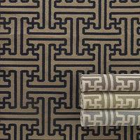 Rugs - &#039;Gabriella&#039; Flatweave Rug - Neiman Marcus - geometric rug, blue and ivory geometric rug, green and ivory geometric rug, gray and ivory geometric rug, black and tan geometric rug,