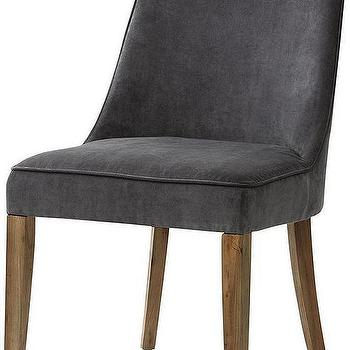 Seating - Berry Dining Chair | HomeDecorators.com - gray dining chair, contemporary gray dining chair,