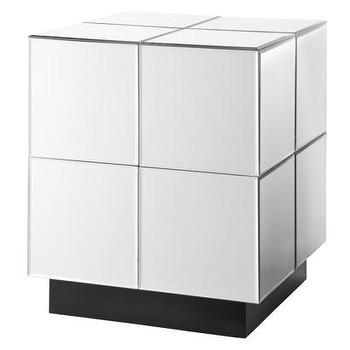 Tables - Accent Table/Mirrored Cube - Target - mirrored cube, mirrored accent table, modern mirrored accent table,
