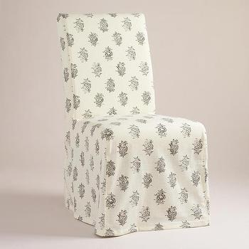 Block Print Long Anna Chair Slipcover, World Market