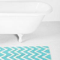 Bath - Zigzag Bath Mat - Urban Outfitters - turquoise and white bath mat, turquoise and white chevron bath mat, turquoise and white zigzag bath mat,