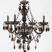 Lighting - Duchess Chandelier - Urban Outfitters - black chandelier, black acrylic chandelier, glamorous black chandelier,