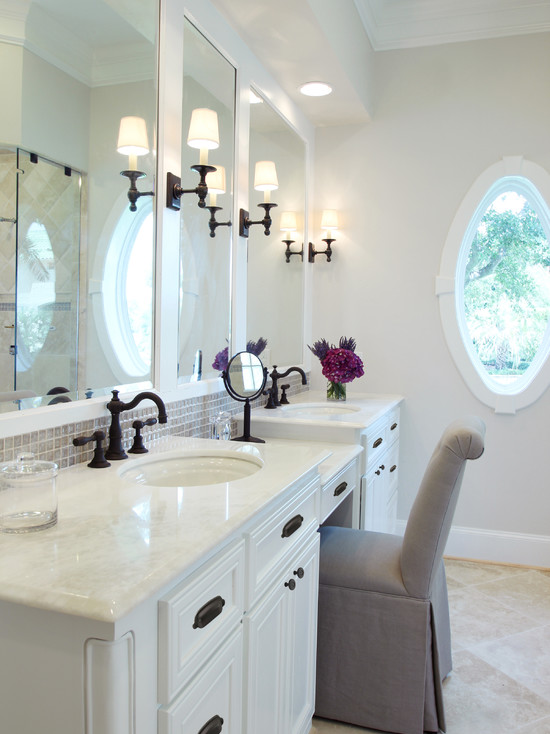 Make Up Vanity Traditional Bathroom Benjamin Moore