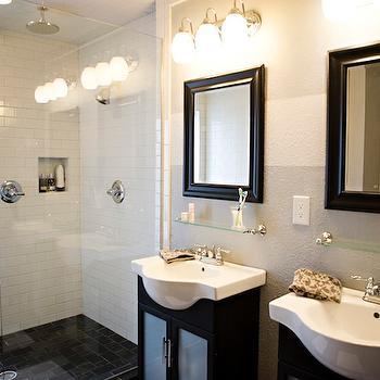 Glass Shower Partition, Traditional, bathroom, Kara Paslay Designs